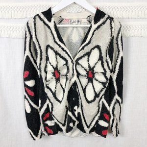 Anthro Field Flower Floral Kaleidoscope Cardigan S